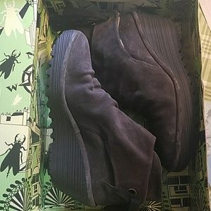 Fly London Sz 40 Yama Ankle Boots Chocolate/Bronze